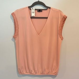 Blush Pink Blouse from Express